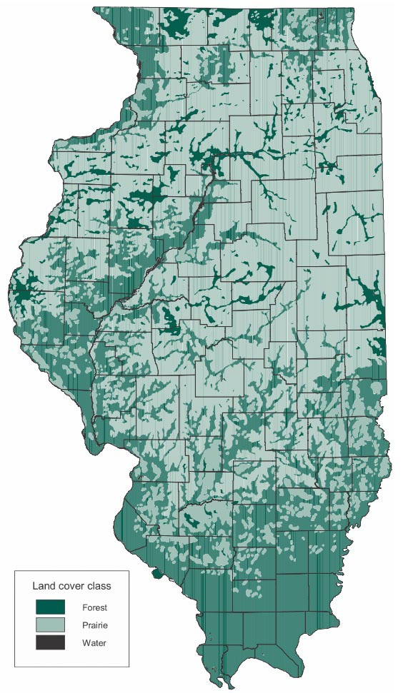 Illinois Forestry Association Map - Map in illinois